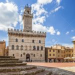 Palazzo Comunale (Town Hall) in Piazza Grande, Antique Montepulciano town, Tuscany